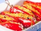 Рецепта Постни пълнени чушки с кус-кус и стафиди